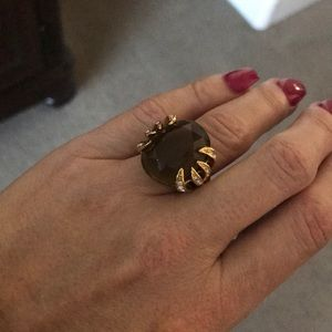 Stella & Dot Smoky Quartz Ring